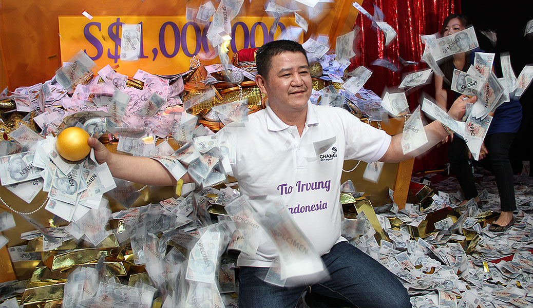 Changi Airport crowns fourth millionaire