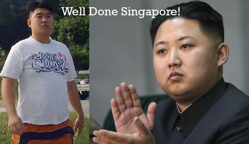Kim Jong-un Claps for Singapore's Kim Jong-un