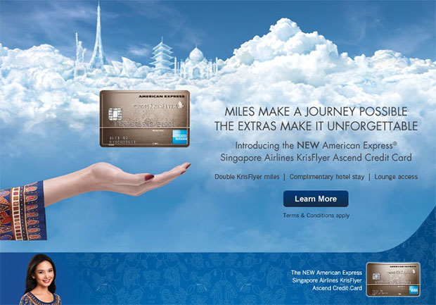 Introducing the NEW American Express Singapore Airlines KrisFlyer Ascend Credit Card