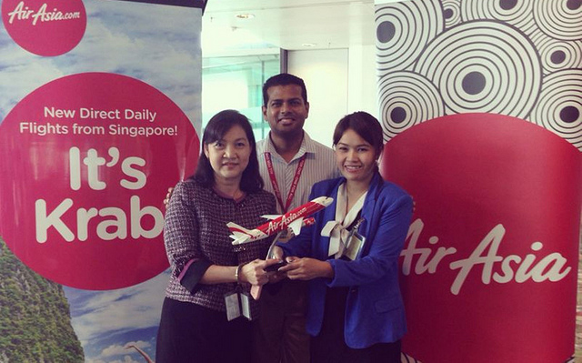 AirAsia Singapore celebrates its first flight into Krabi