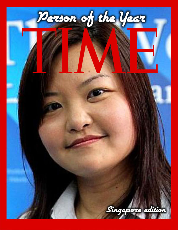 TIME PERSON OF THE YEAR 2013 (SINGAPORE EDITION) – THE WINNER IS…