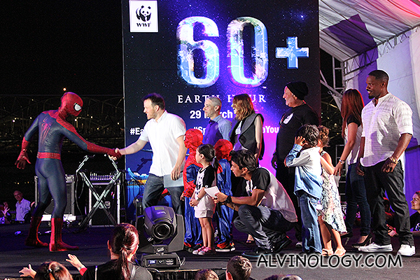 Spider-Man and Singapore Turn Off the Lights in World's Largest Earth Hour Celebration