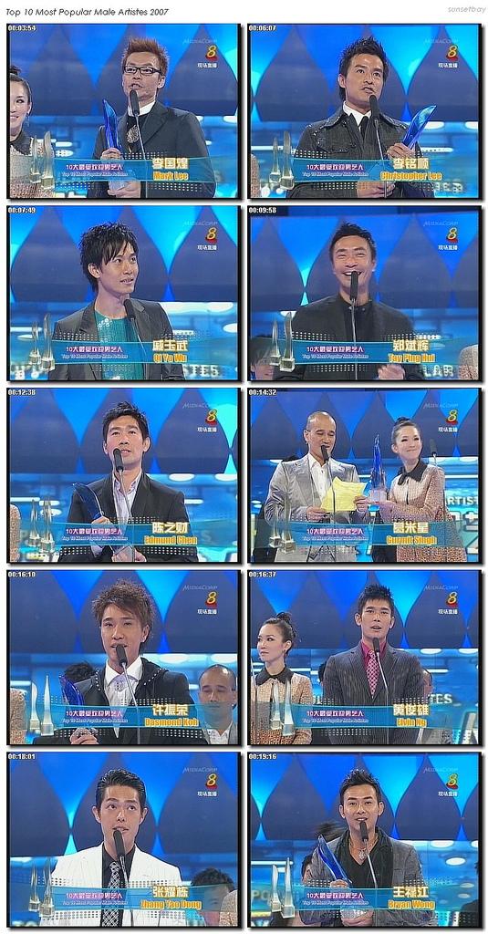Star Awards (红星大奖) 2007 – Results
