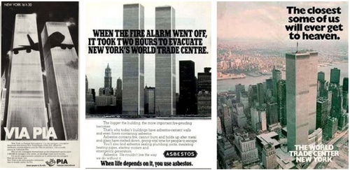 Foreboding Ads featuring the World Trade Center
