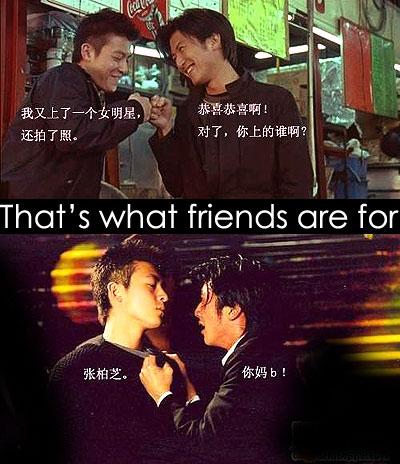 Edison Chen and Nicholas Tse