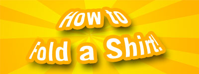 Four easy steps to fold a shirt