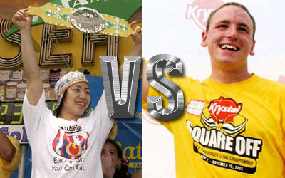 Satay eating competition: Joey Chestnut and Takeru Kobayashi face-off in Singapore