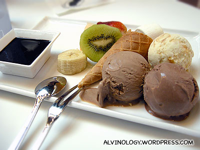 Single Fondue @ Andersen's Ice Cream