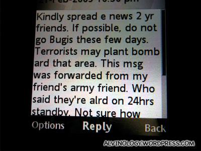 Bugis Bomb Hoax