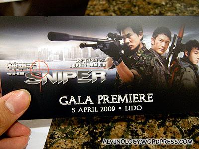 The Sniper (神鎗手) Singapore Gala Premiere