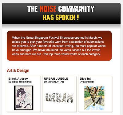 Thank you for voting Alvinology @ Noise Singapore
