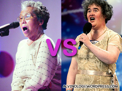 Wu Baiwei (吴白玮) vs Susan Boyle - Alvinology