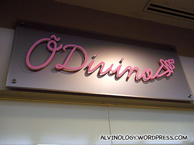 O'Divino @ Sunshine Plaza - Alvinology