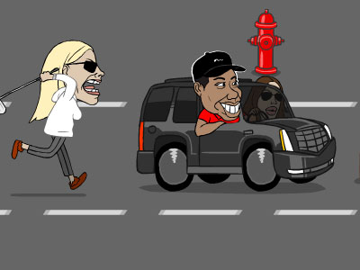 """Tiger Woods Wife Outrun"" Flash Game"