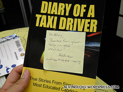 Cai Mingjie's Diary of a Taxi Driver - Alvinology