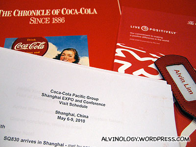 Coca-Cola is sending me to the Shanghai World Expo