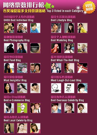 Finalists of Singapore Blog Awards 2010 revealed