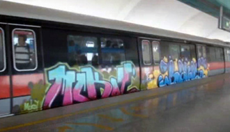 MRT Train vandalised by Swiss National - Is this another publicity stunt by SingPost? - Alvinology