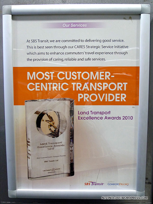 SBS Transit: Most Customer Centric Service Provider