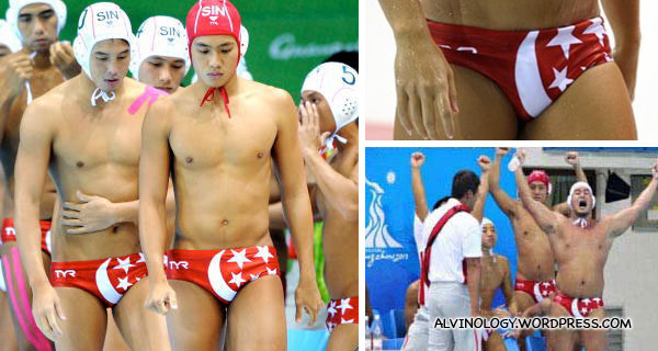 Singaporeans flustered over our water polo boys' swimming trunks?