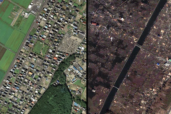 Japan Earthquake and Tsunami: Before & After