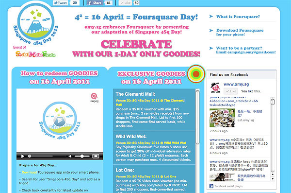 Celebrate Singapore 4sq Day with omy.sg!