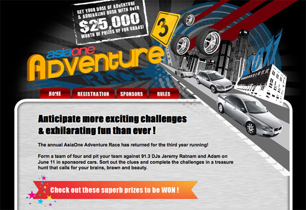 AsiaOne Adventure Race 3 - Form a Team of 4 and Join Now! - Alvinology