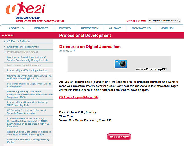 Guest Panelist at SAE Institutue and e2i's Discourse on Digital Journalism