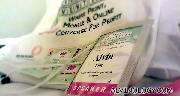 Alvinology @ Asia Publishing Convention – Day 1 of 3