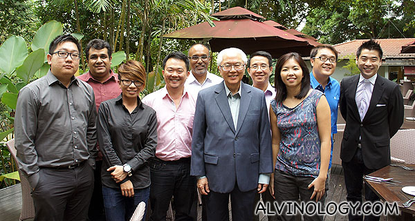 Lunch with Dr Tony Tan