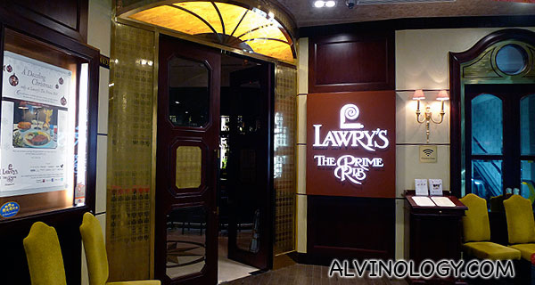 Lawry's The Prime Rib (Singapore) @ Mandarin Gallery