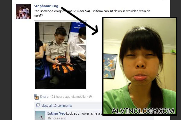 SAF personnel not allowed to sit in crowded MRT train while in uniform? - Alvinology