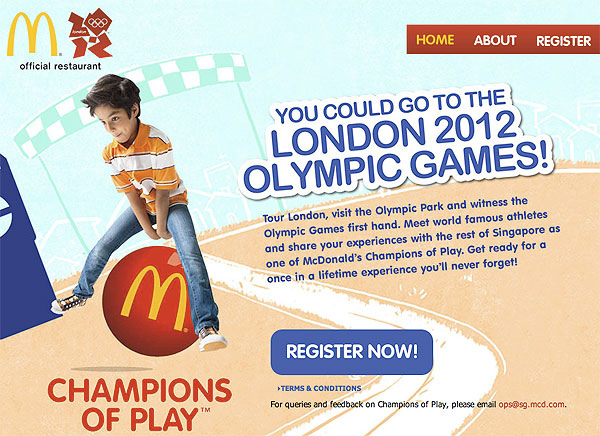 McDonald's Champions of Play Contest: Win a Trip to London 2012 Olympics!