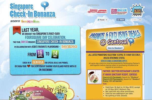 omy.sg launches First Singapore Check-In Bonanza with Sentosa!