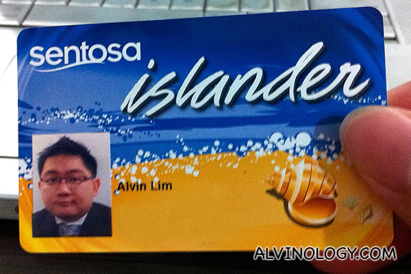 Alvinology is now a Sentosa Islander