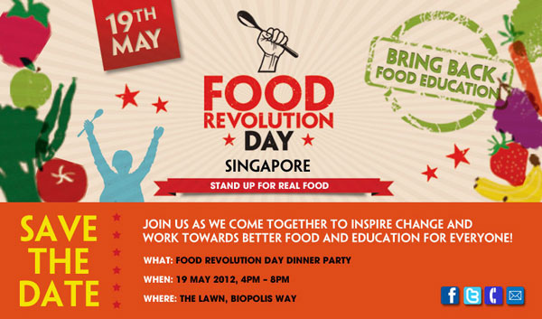 Jamie Oliver's Food Revolution Day in Singapore