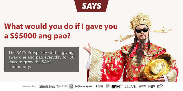 Win S$5,000 at the SAYS Chinese New Year Giveaway!