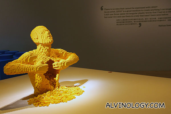 Nathan Sawaya's The Art of the Brick exhibition @ ArtScience Museum, Marina Bay Sands
