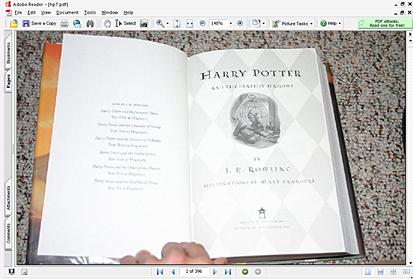 Pirated Harry Potter ebook