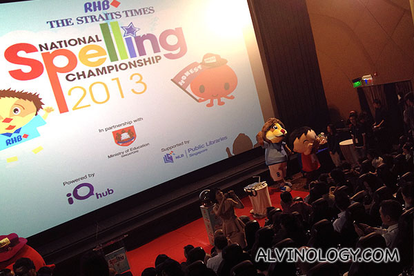 RHB-The Straits Times National Spelling Championship is Back