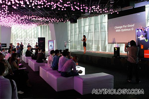 Launch of LG Optimus G in Singapore - Alvinology