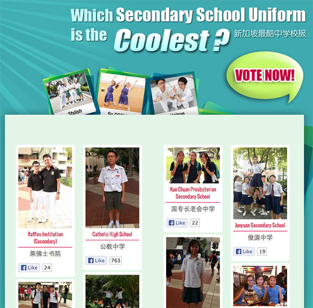 Singapore Campus Likes – Which Secondary School Uniform is the Coolest?