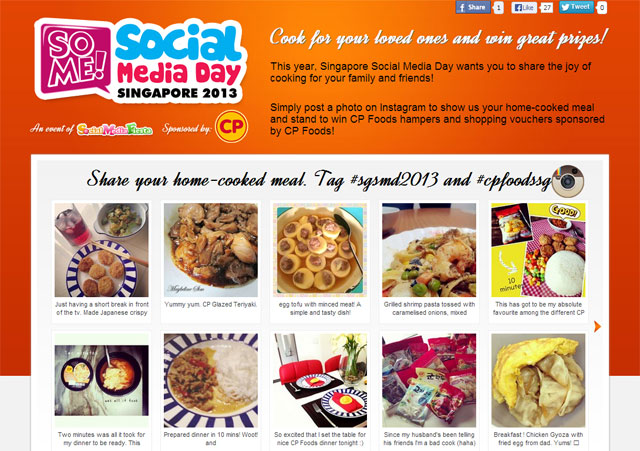 omy.sg partners CP Foods to celebrate home cooking in Singapore in conjunction with World Social Media Day
