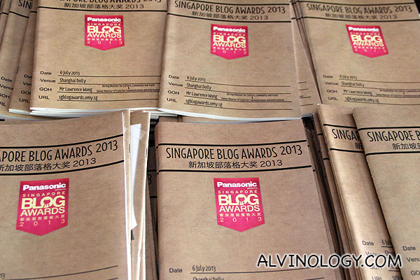 Winners for Singapore Blog Awards 2013 announced at Shanghai Dolly - Alvinology