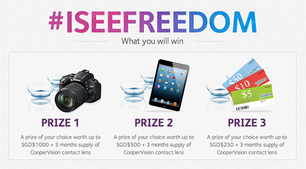 CooperVision's #iseefreedom contest - Win prizes worth up to $1288 - Alvinology