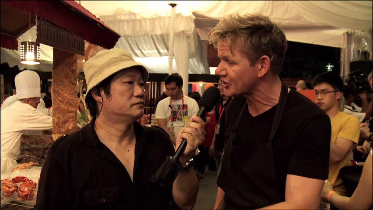SingTel Hawker Heroes Challenge – Meeting Gordon Ramsay