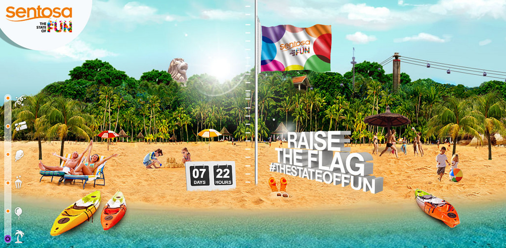 Raise the Flag at Sentosa – the State of Fun!