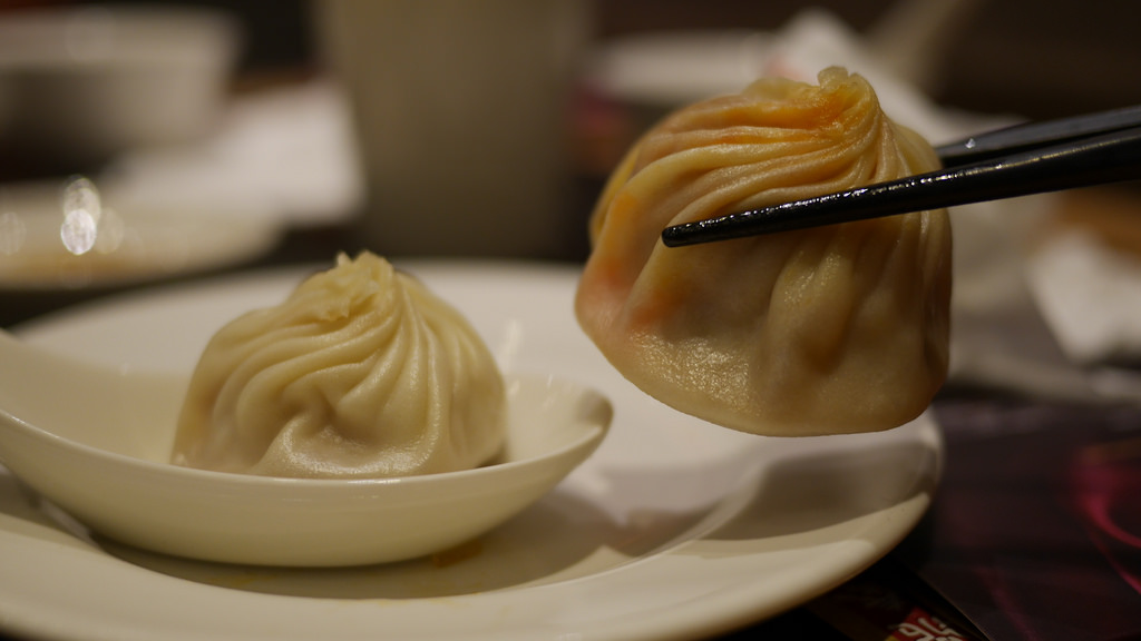 Chili crab xiaolongbao at Din Tai Fung is delicious