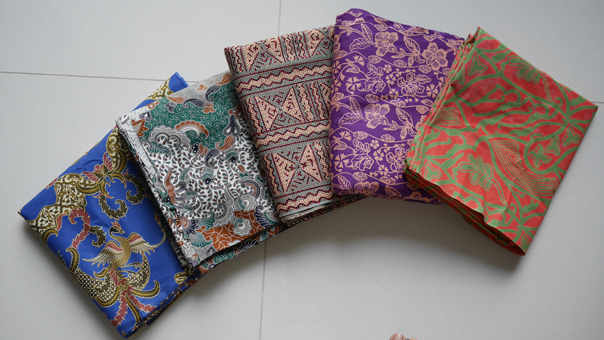 Batik for babywearing and for baby to wear!