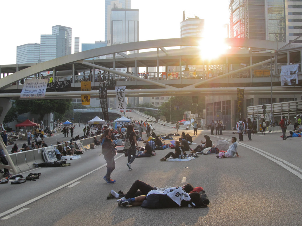 Hong Kong's #OccupyCentral protests in pictures